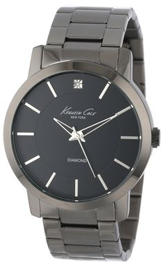 """Kenneth Cole New York Men's KC9286 """"Rock Out"""" Stainless Steel Diamond-Accented Watch"""