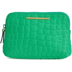 Marc By Marc Jacobs Crocodile Effect Neoprene Cosmetics Case found on Polyvore