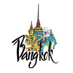 Télécharger - Temple du Bouddha émeraude dans l'art de design plat symbole Logo de Bangkok, Thaïlande — Illustration #104580612 Thailand Art, Bangkok Thailand, Berlin Photography, Happy Wallpaper, City Icon, Bangkok Travel, Travel Icon, Thai Art, Country Art