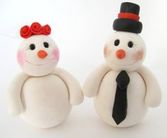 Snowman  wedding cake topper by yaelsplace on Etsy, $75.00