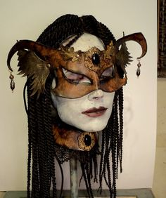 Vincent Cantillon Art Mask and collar..$95...available thru my Etsy shop.
