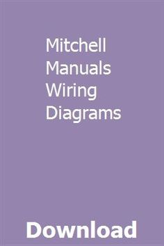 Mitchell Manuals Wiring Diagrams Rorelosea