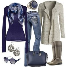"""""""Navy and Gray"""" by smores1165 on Polyvore"""