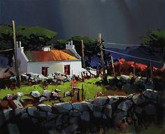 Across The Sky, Connemara Ireland by Michael O'Toole (b1963; Vancouver, British Columbia, Canada)