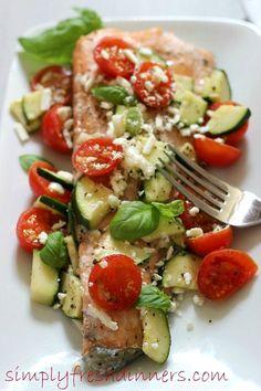 Meditteranean Salmon   simply fresh dinners