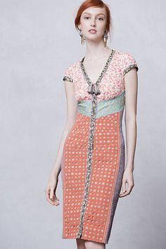 Anthropologie-Lasercut-Springtime-Sheath-Dress-Size-2P-Beguile-By-Byron-Lars