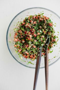 my darling lemon thyme: Sara's strawberry + quinoa tabouli