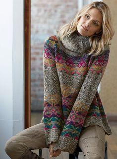 Bohemian sweater ideas, boho trends, boho winter Fair Isle Knitting Patterns, Knitting Machine Patterns, Fair Isle Pattern, Wooly Bully, Icelandic Sweaters, Fair Isles, Sweaters For Women, Boho Sweaters, Pullover Sweaters
