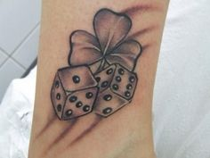 Simple Dice Tattoo Designs and Meaning Image