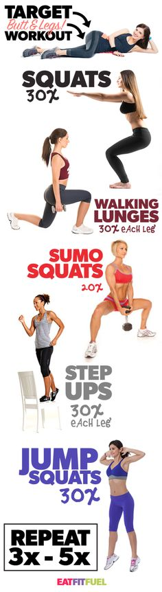 This is a great leg and butt workout! Print it off and hang it on your bedroom wall... now get to it!!!