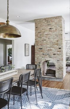 The Ramsey House from Fixer Upper central fireplace