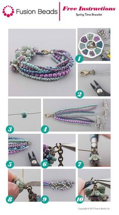 Cody made this cute DIY Spring Time bracelet to highlight all of the colors and beads she loves! You can get all of the product and step-by-step instructions on our website! Cody made this cute DIY Spring Time bracelet to highlight all of the colors and … Diy Jewelry Rings, Diy Jewelry Unique, Diy Jewelry To Sell, Diy Jewelry Tutorials, Diy Jewelry Making, Jewelry Crafts, Jewelry Holder, Jewlery Making For Beginners, Diy Jewelry Instructions