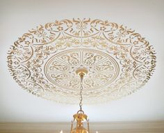 Decorative Stencil Georgian Ceiling von CuttingEdgeStencils auf Etsy