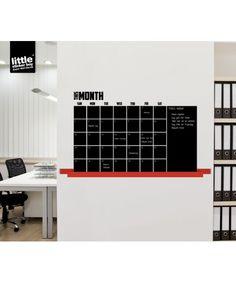 Blackboard Calendar - Writeable Stick-On Chalkboard Wall Sticker
