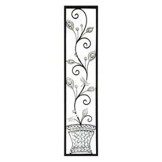 Home Source Industries Decorative Faux Vase with Sprawling Stem Wall Sculpture - 400-22736