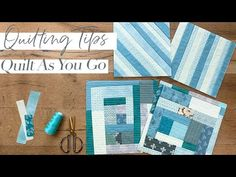 How to Quilt As You Go- Time Saving Scrap Buster Technique - YouTube
