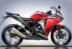 2011 Honda CBR250R Final Side Sketch