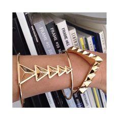 TOMTOM Jewelry - Gold Geometric Cuffs + Studs