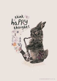 THINK HAPPY THOUGHTS | Rosie Harbottle & Kinderkamerstylist