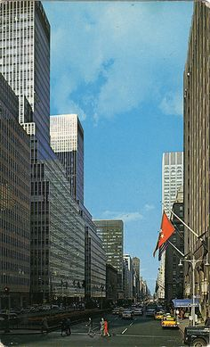 park avenue view looking north october 1962