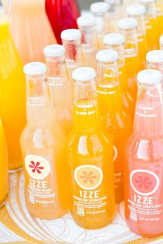 Izze ombre soda display | Photography: Briana Marie Photography - brianamariephotography.com/ View entire slideshow: Summer Weddings Sweets on http://www.stylemepretty.com/collection/420/