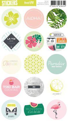 Kesi'art - stickers ronds - aloha - Stickers ronds - Adhésifs