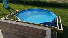 habillage piscine hors sol intex - Google Search Piscine Intex Graphite, Rectangle Above Ground Pool, Swimming Pool Decks, In Ground Pools, Pool Landscaping, Backyard, Outdoor Decor, Image, Home Decor