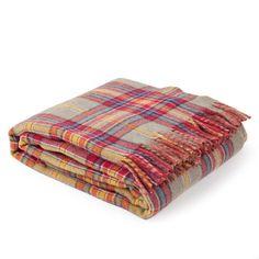 Manta lana cuadro multicolor zara home espa a - Zara home cuadros ...