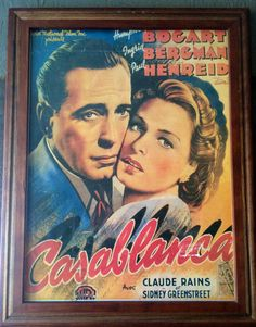 Casablanca Vintage Framed Theater Poster  by putnamandspeedwell