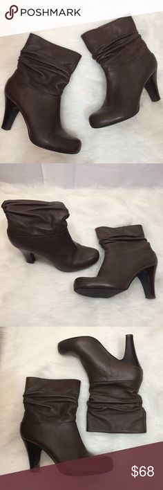 "🌹BP 🍫 Brown Leather Slouch Boot Size 8.5M🌹 Note: slight scuff on front of right toe   Heel Size: 3.5"" Ends a few inches above the ankle   Fabric: Man made material and leather  Size: 8.5 M Brand: BP bp Shoes Heeled Boots"
