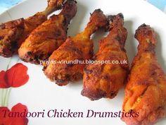Roasted Chicken Drumsticks - Tandoori style
