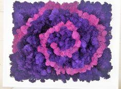 Moss Art, Moss Painting, Reindeer Moss, Preserved Moss, purple by MoonLightHappy on Etsy Moss Decor, Moss Art, Purple Art, Wall Decor, Wall Art, Black Decor, Preserves, Reindeer, Box