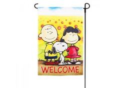 PEANUTS SNOOPY FALL WELCOME MINI FLAGSIZE 12x18NEW @ niftywarehouse.com #NiftyWarehouse #Peanuts #CharlieBrown #Comics #Gifts #Products