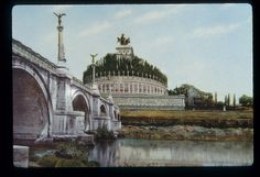 Reconstruction of the Mausoleum of Hadrian (Castel Sant'Angelo) in Rome.