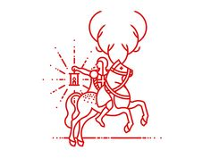 Dribbble - Step 2 / Reindeer Horse by Brent Schoepf