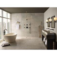 Brizo DT60275BL/DR60000UNBX Odin Single Handle Shower Faucet - Matte Black at…
