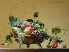 Stilleven met fruitschaal (ode aan Caravaggio)
