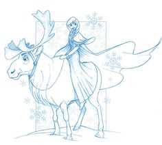 Just Doodlin' - The Art of Michael McCabe: Disney's Frozen - Anna and Sven