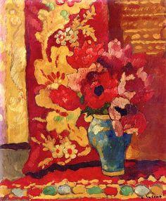 Blue Vase, Tulips Louis Valtat - 1939