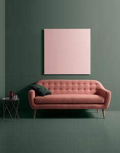 Kreiere Dein Sofa im Sofa Konfigurator Beige Couch, Pink Couch, Tufted Sofa, Sofa Design, Furniture Design, Living Room Sofa, Home Living Room, Rosa Sofa, Craft Ideas