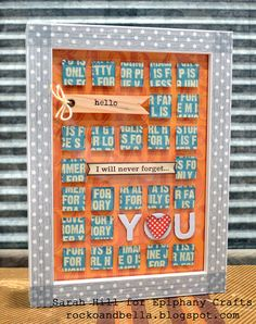 Frame with the #epiphanycrafts Shape Studio Tool Square available at #MichaelsStores www.epiphanycrafts.com #jillibeansoup