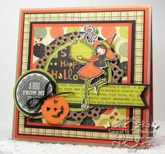 I made this 6X6 card with the NEW MFT a´ la modes Bewitching, NEW Trick or Sweet Stamp set and NEW coordinating Layered Treat Tag Die-namics, Pierced Circe STAX, Circle 1 and 2 STAX, Fishtail Flags, Fishtail Layers STAX, Dainty Doily and Halloween Charms Die-namics.  I used MFT Replenishments Heavyweight Card Stock in Tangy Orange, Sour Apple, Steel Grey, Black Licorice, Primitive White and MFT Premium Dye Ink in Steel Blue and Sour Apple.