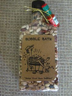 Redneck Bubble Bath-christmas ideas.  This would make a great White Elephant gift!