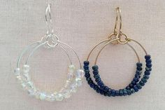 Make beaded hoop earrings to match every outfit with this simple and versatile design. You can even use memory wire to make them quicker.