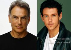 Mark Harmon and Sean Thomas Harmon. Of course his son is as gorgeous as he is!