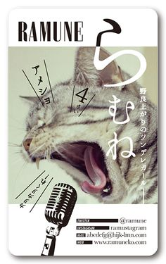 ペット名刺 型抜き名刺 猫デザイン 縦型009 オーダーメイド 猫グッズ (1個30枚入)