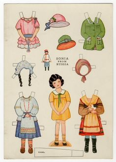 78.6428: Little Americans from Many Lands-Sonia from Russia | paper doll | Paper Dolls | Dolls | National Museum of Play Online Collections | The Strong