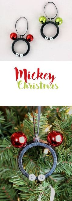 7 diy mickey mouse christmas ornaments ornament decorating and easy mickey and minnie diy christmas ornaments make them with mason jar lids so stinking cute solutioingenieria Gallery