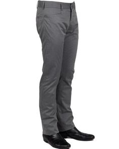 NEIL KNIFE POCKET // GREY CHINO:  THE HOLY GRAIL of casual dress pants.  A 60's style horizontally cut pockets, a slim straight leg, a lower rise, and made in a tight compact weave makes the Neil a modern chino with a dressy feel.  Perfect for office-to-stage to Red Carpet to weekend looks.