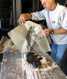I'm loving these Gyotaku prints by Barry Singer of fishfanatic . - I'm loving these Gyotaku prints by Barry Singer of fishfanatic . Gyotaku prints are prints or rub - Family Fun Day, Fish Print, Art Plastique, Teaching Art, Art Techniques, Graphic, Japanese Art, Art Lessons, Printmaking